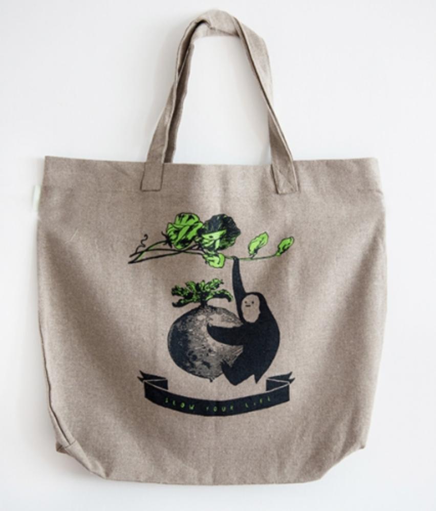Ładna torba na zakupy na prezent zero waste