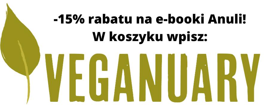 Kod rabatowy -15% na ebooki z wegańskimi przepisami