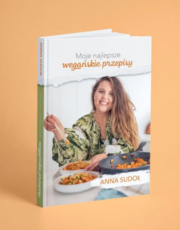 Książka kucharska dla wegan.