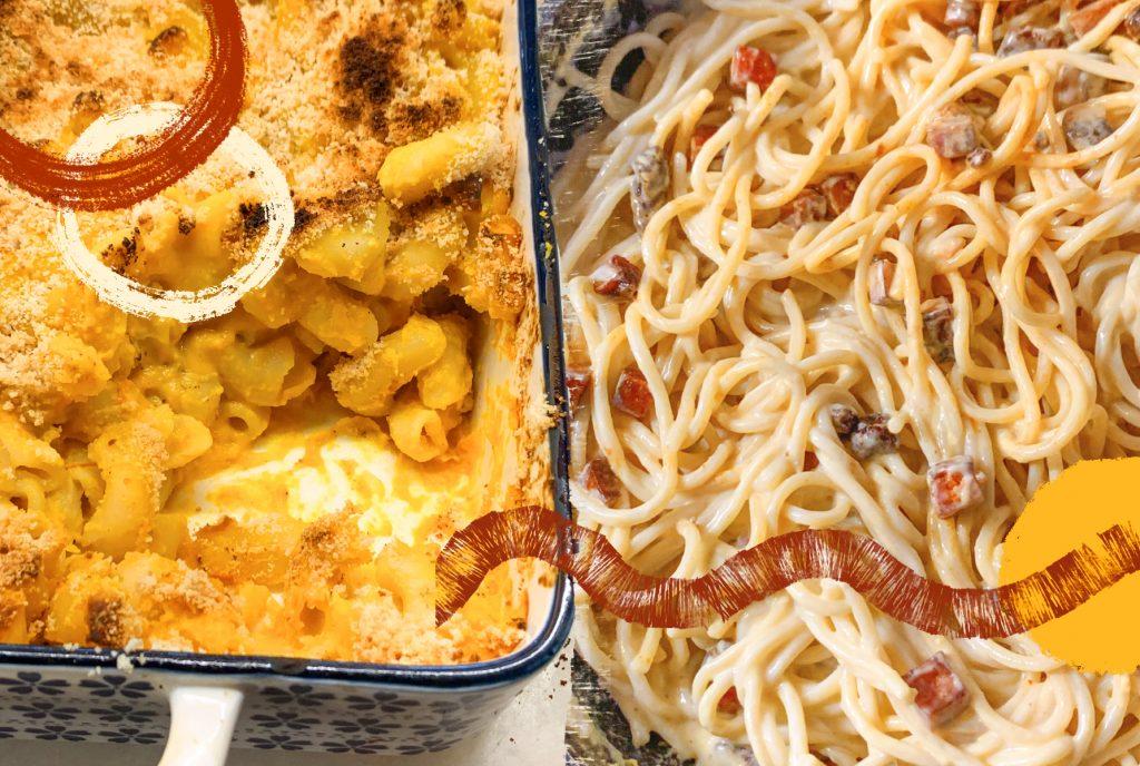 Przepis na wegańska carbonarę i wegańska zapiekankę pasterską