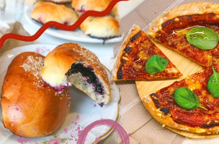 przepis na wegańskie jagodzianki i przepis a wegańska pizzę, wegański comfort food