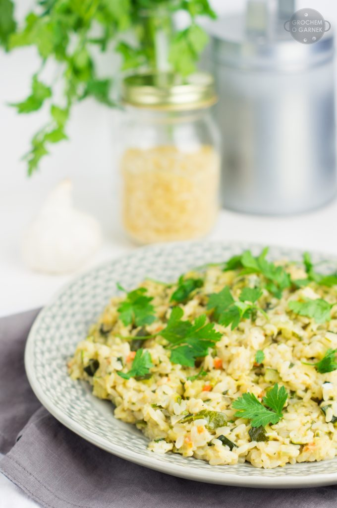 Wegańskie risotto z cukinią, czyli szybki obiad jednogarnkowy