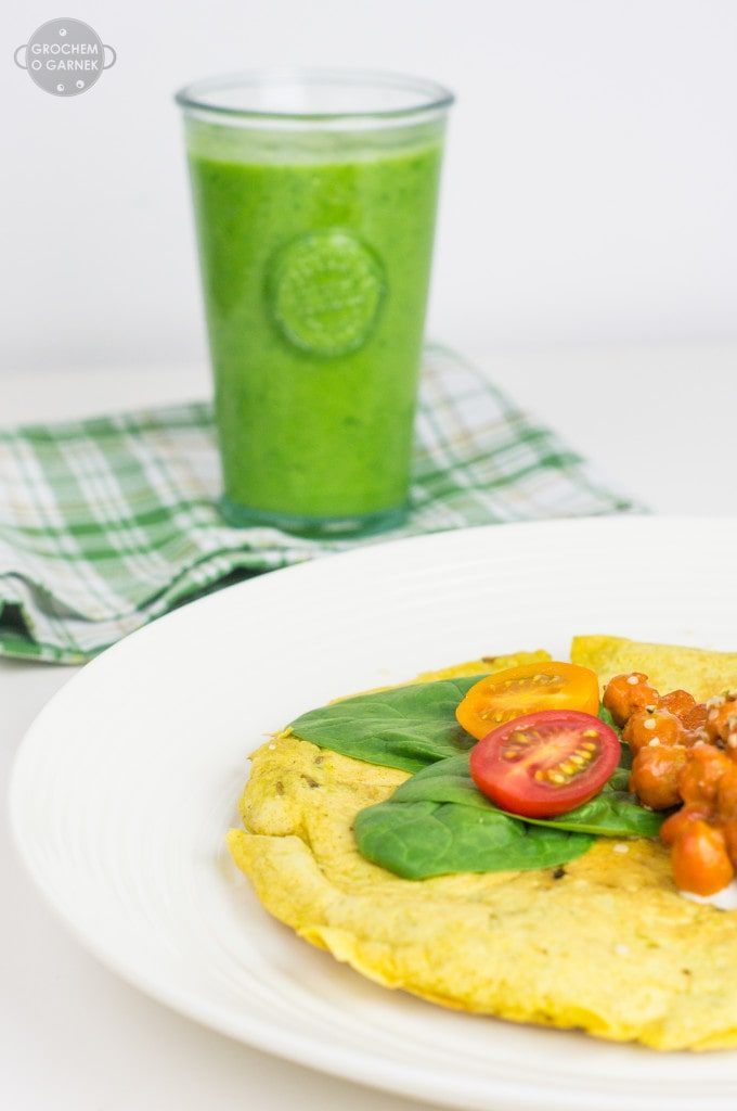 Przepis na wegański omlet idealny na słone śniadanie